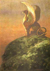 Vigilance, The Gryphon by Frank Blackwell Mayer (American, 1827-1899) (40931 bytes)