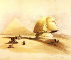 The Sphinx by David Roberts 19th cen.