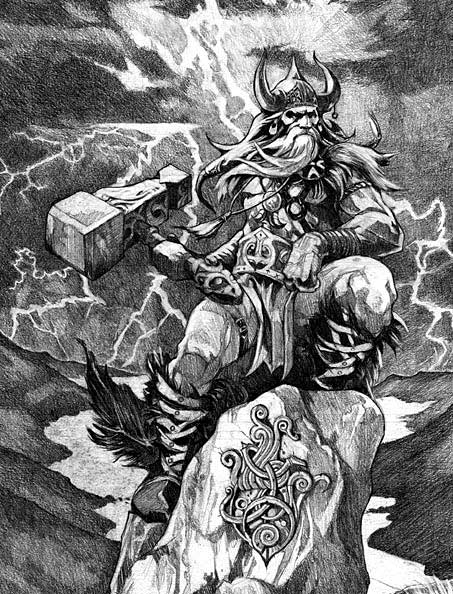 Thor God Of Thunder Viking Norse Myth Legend Mythology
