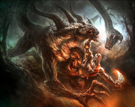 Kentaur vs Chiméra God_of_war_iii__by_andyparkart-450x357