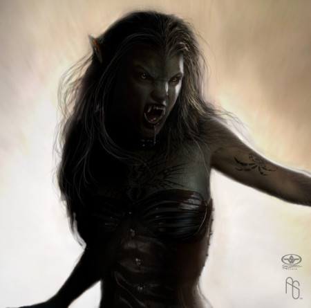 Royal Female Werewolf: She-Wolf Werewoman