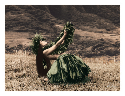 Offering to Pele, Hawaiian Hula Dancer